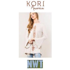 Kori Long Sleeve Blouse Size Small